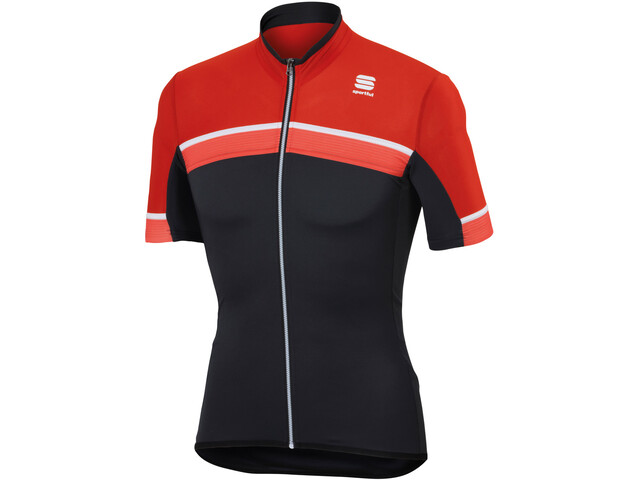 Sportful Pista Maillot Manches courtes Homme, red/black